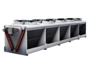Przemysłowy dry-cooler podwójny Cabero typu V