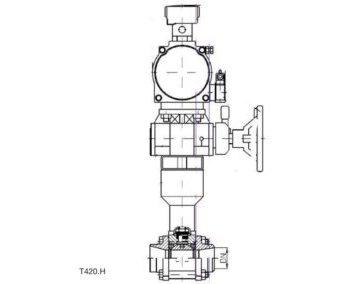 Zawór kulowy z siłownikiem T420H